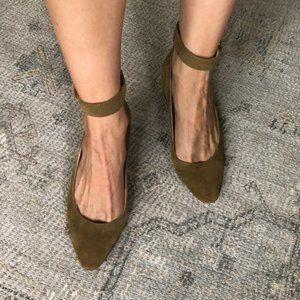 Nine West Ankle Strap Block Heel Mini Pump 8.5